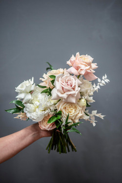 Modern blush pink & cream bouquet