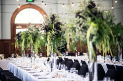 Mixed foliage centrepieces