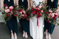 Unstructured spring bridal bouquets
