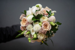 Blush pink, cream & green bouquet