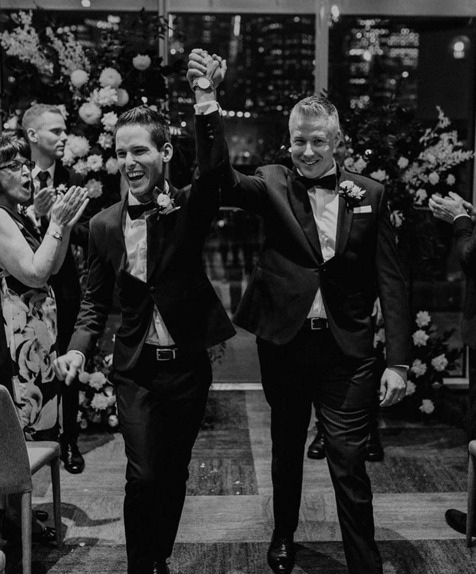 Just married - James & Ben