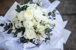 Spring white & green bouquet