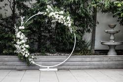 Ceremony hoop backdrop