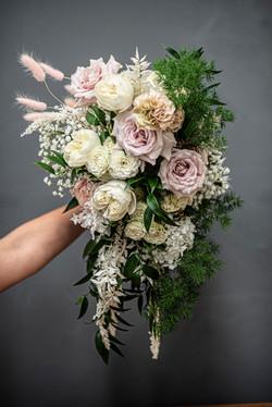 Brides cascading bouquet