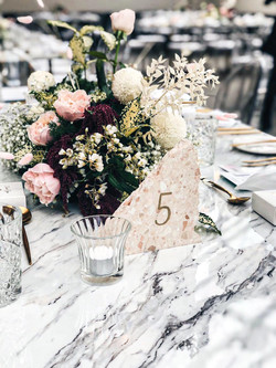 Guest table centrepieces