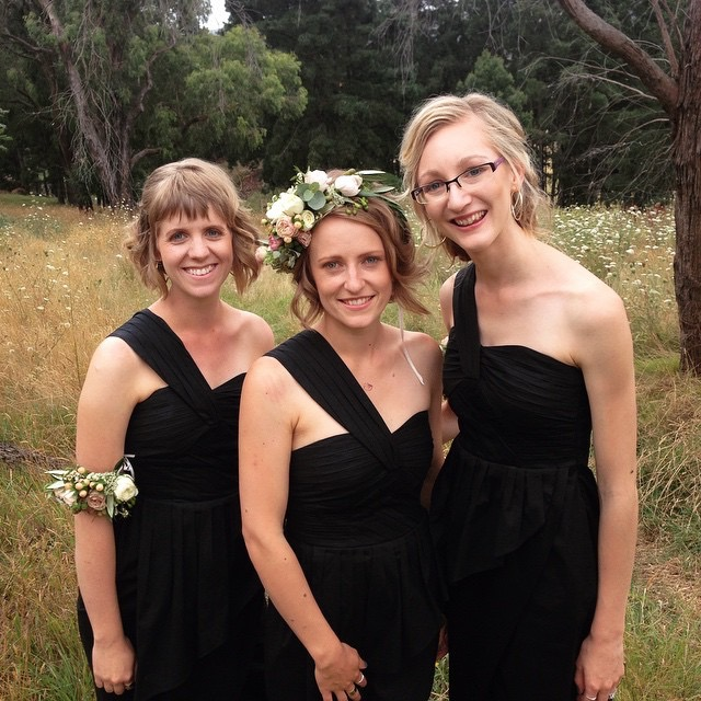 Bridesmaid trio