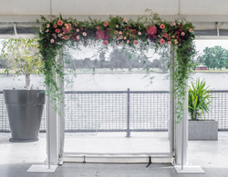 Ceremony arch florals