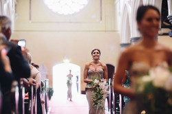 Cascading bridesmaid bouquet