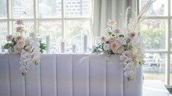 Bridal table flowers