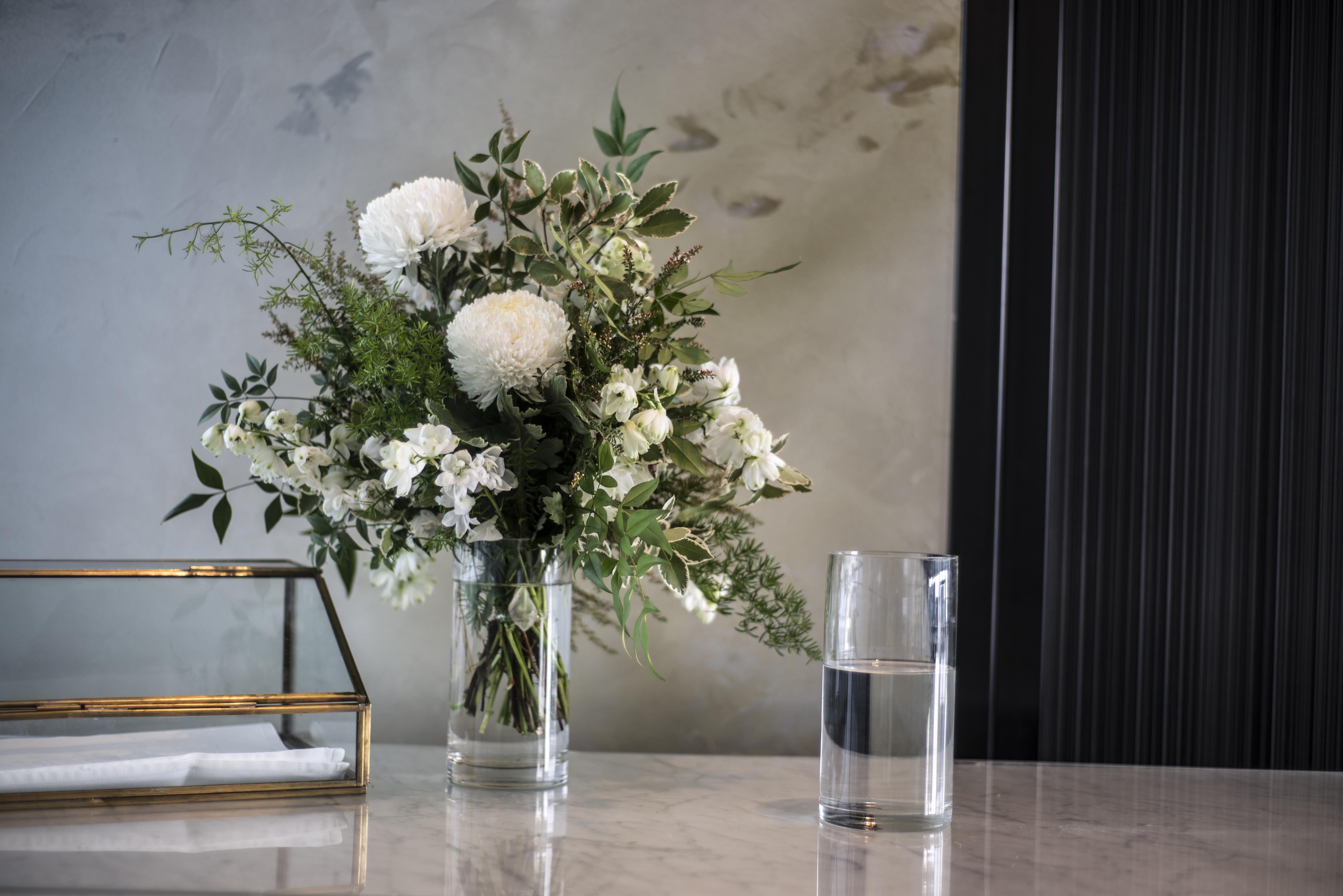 Wishing well flower arrangement