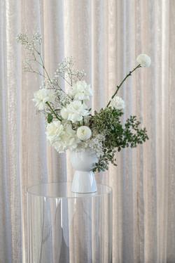 Fresh cream & green flower arrangement