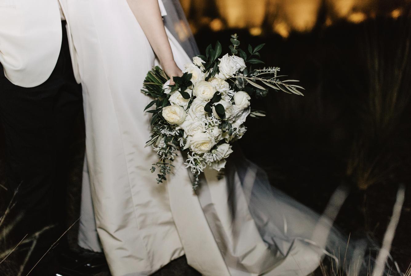Garden style brides bouquet