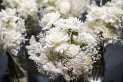 White & cream bouquets