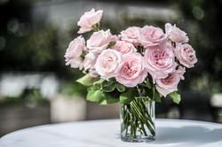 A mass of David Austin roses