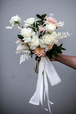 Blush pink & cream brides bouquet