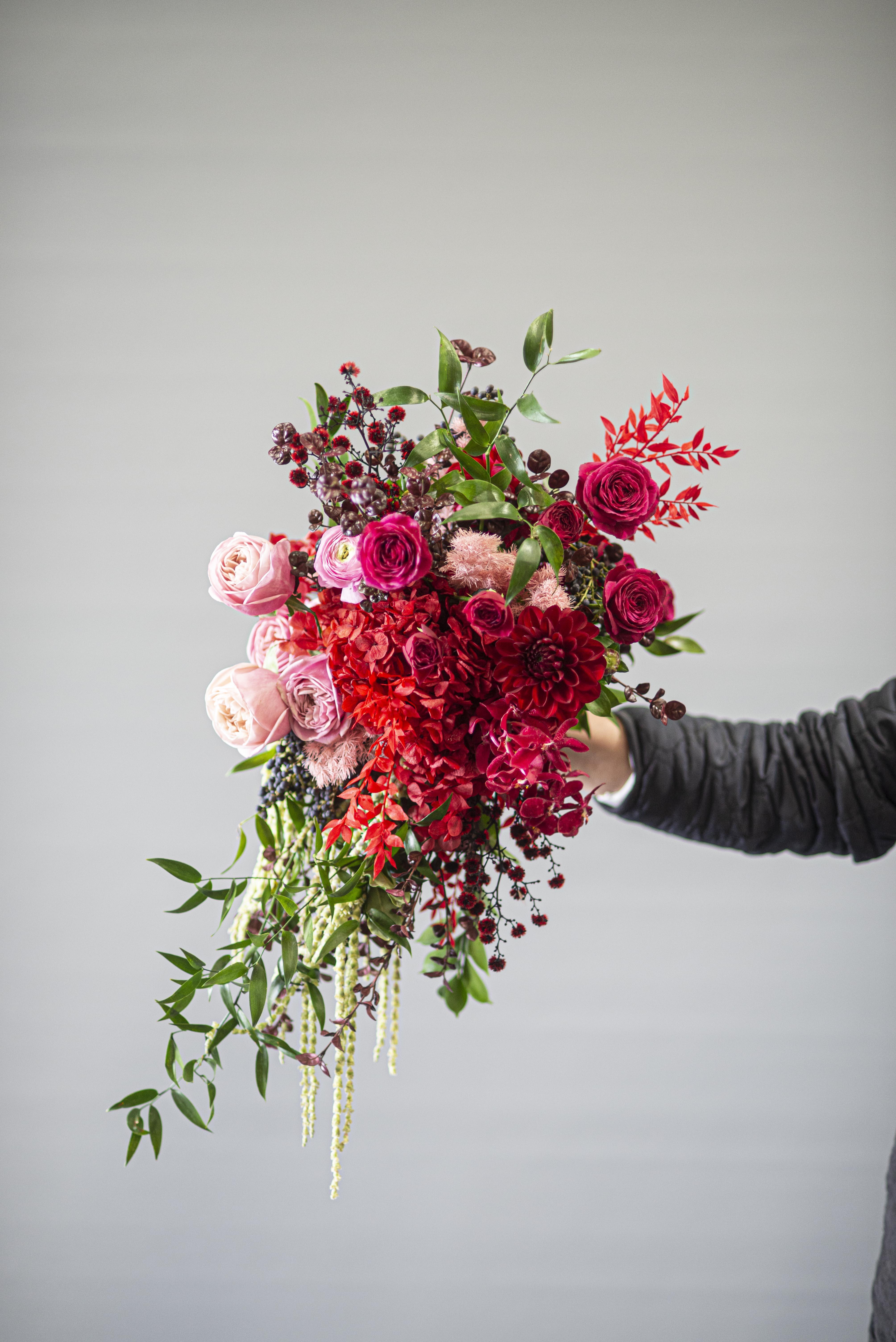 Cascading brides bouquet