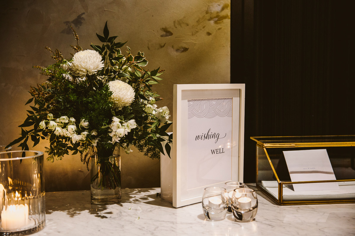 Reception floral styling