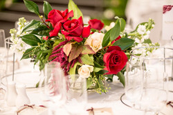 Floral arrangements in glass