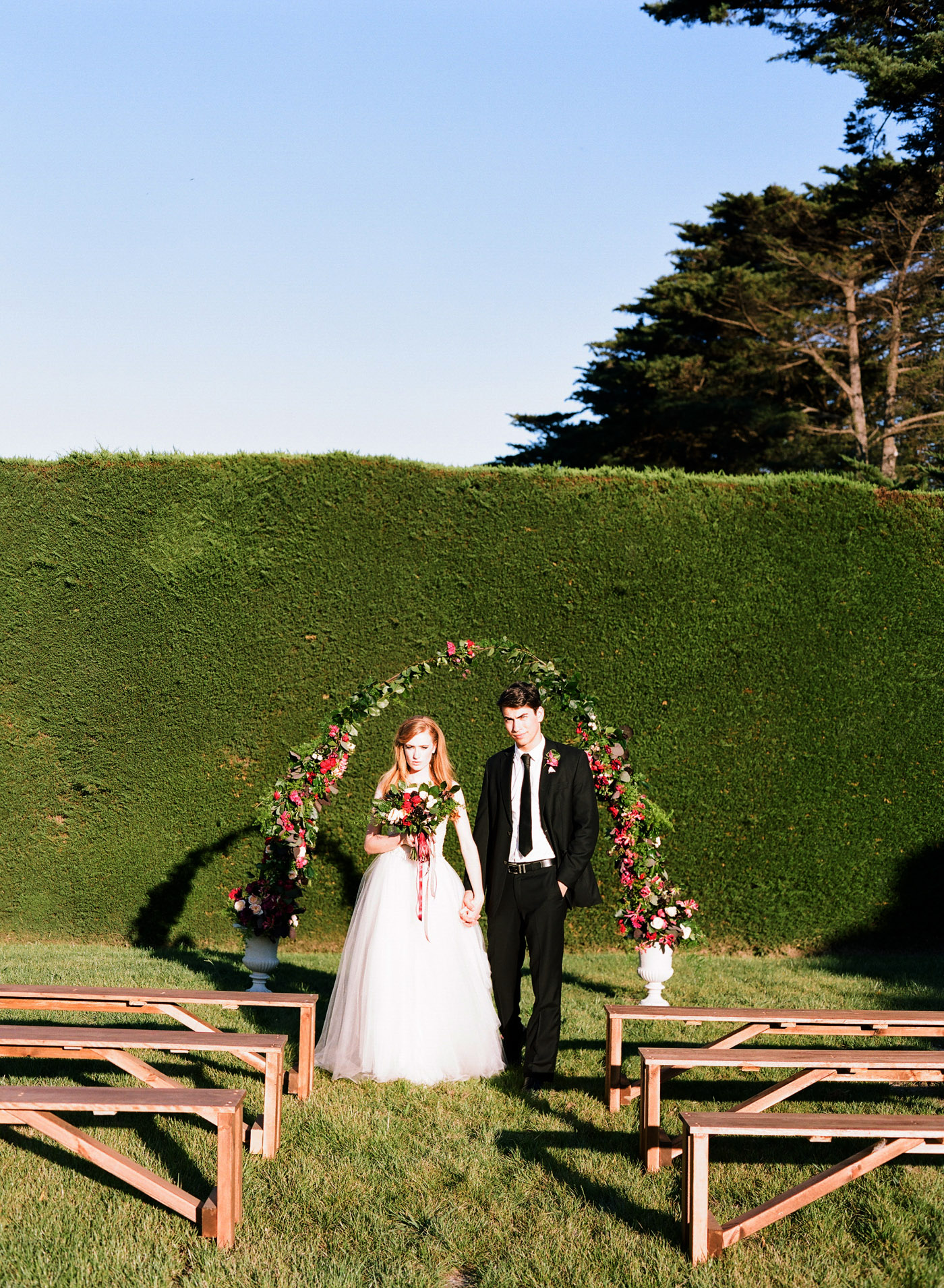 Unusual wedding ceremony arch