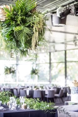 Tropical hanging foliage bomb