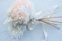 Dried hydrangea & rice flower bouquet