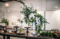 Large vintage urn flower arrangement