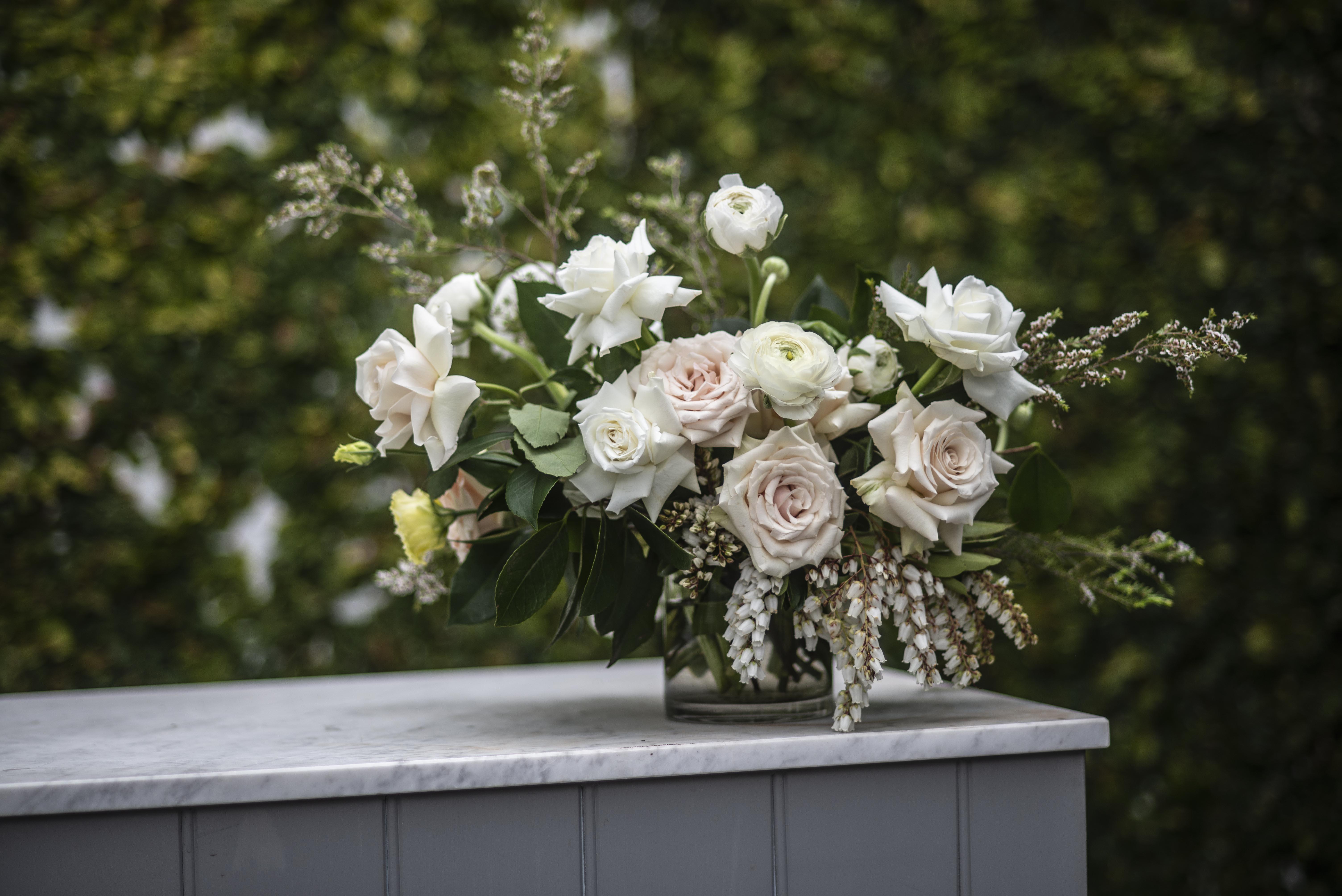 Blush & cream feature flowers