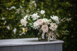 Blush & cream floral feature