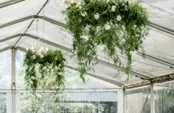Hanging foliage chandelier