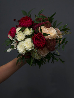 Domed mixed floral bouquet