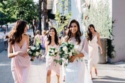 Summer bridal party bouquets