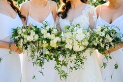 White & green wedding flowers