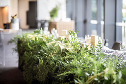 Bridal table foliage