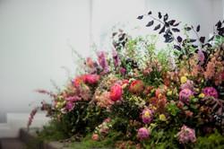 Bridal table garden instillation
