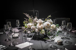 White floral wedding centrepiece