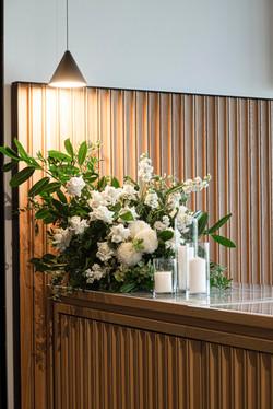 Fresh cream & green flower arrangement971
