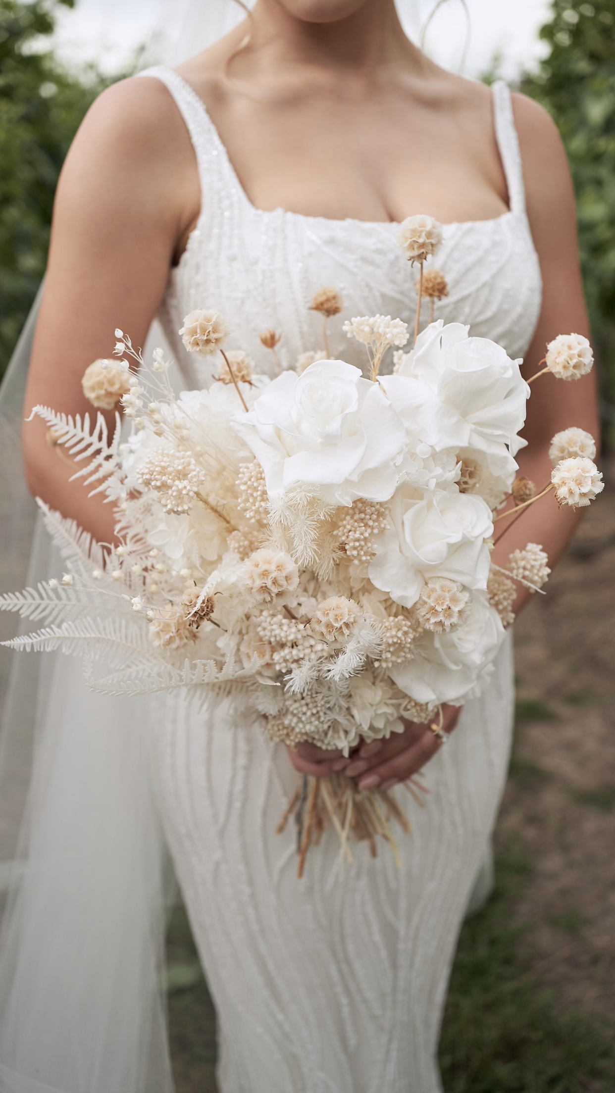Dried / preserved brides bouquet