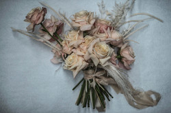 Blush pink garden rose bouquet