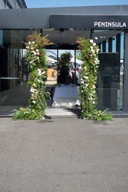 Ceremony backdrop pillars