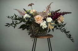 Autumn guest table arrangement