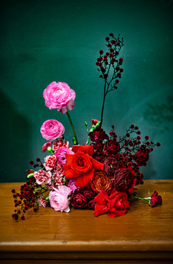 Rich ruby, pink & magenta flowers