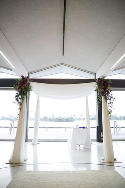 Ceremony chuppah flowers