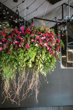 Fresh floral hanging chandelier