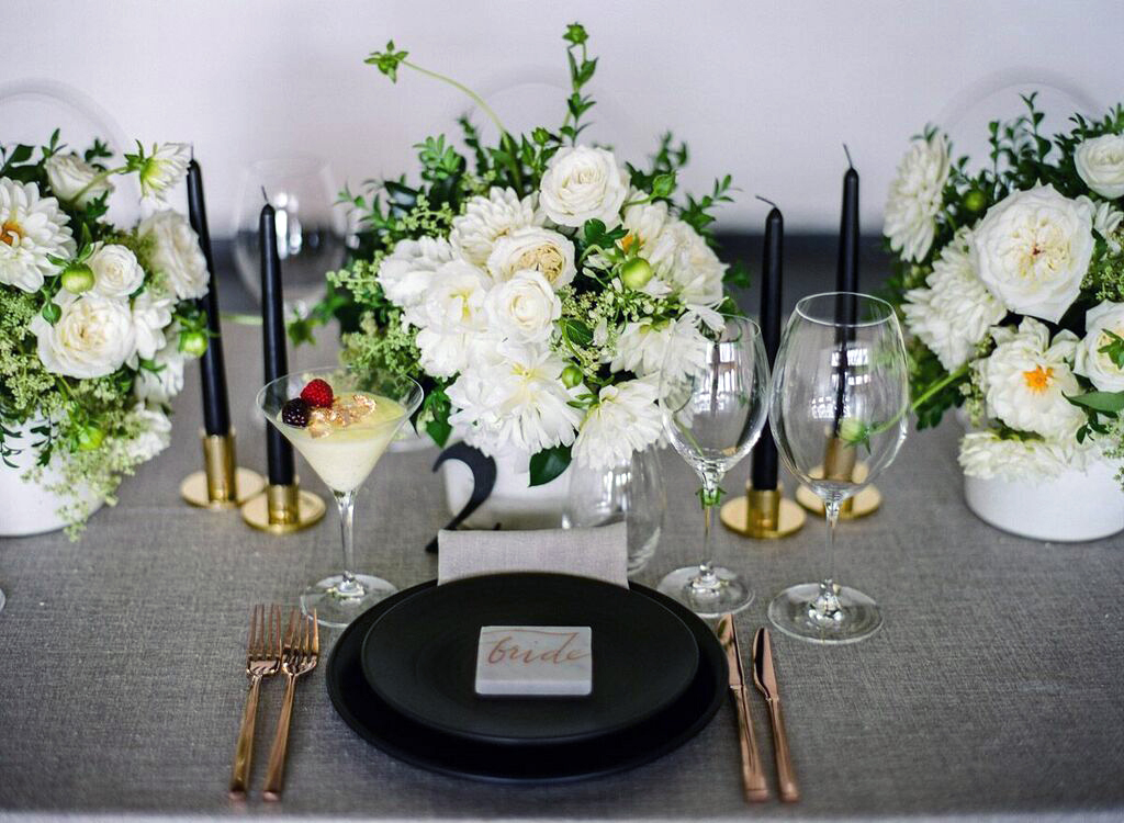 Wedding reception table arrangements