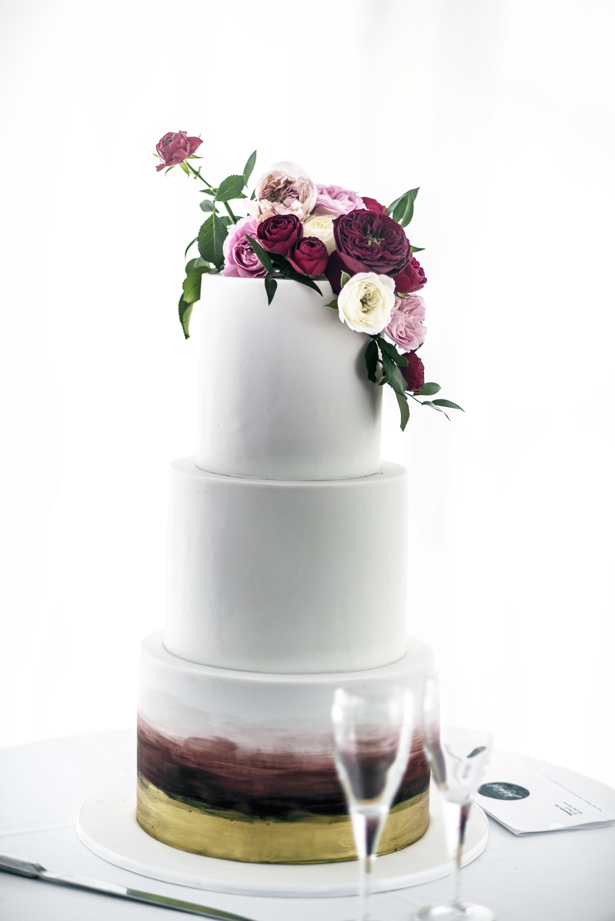 Wedding cake floral topper