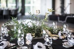 Foliage guest table arrangements
