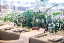 Wild mixed foliage table centrepiece