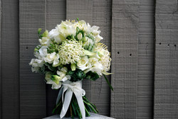 Loose organic bridal bouquet
