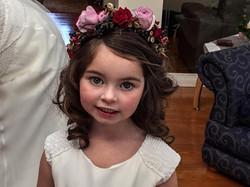 Flower girl, flower crown