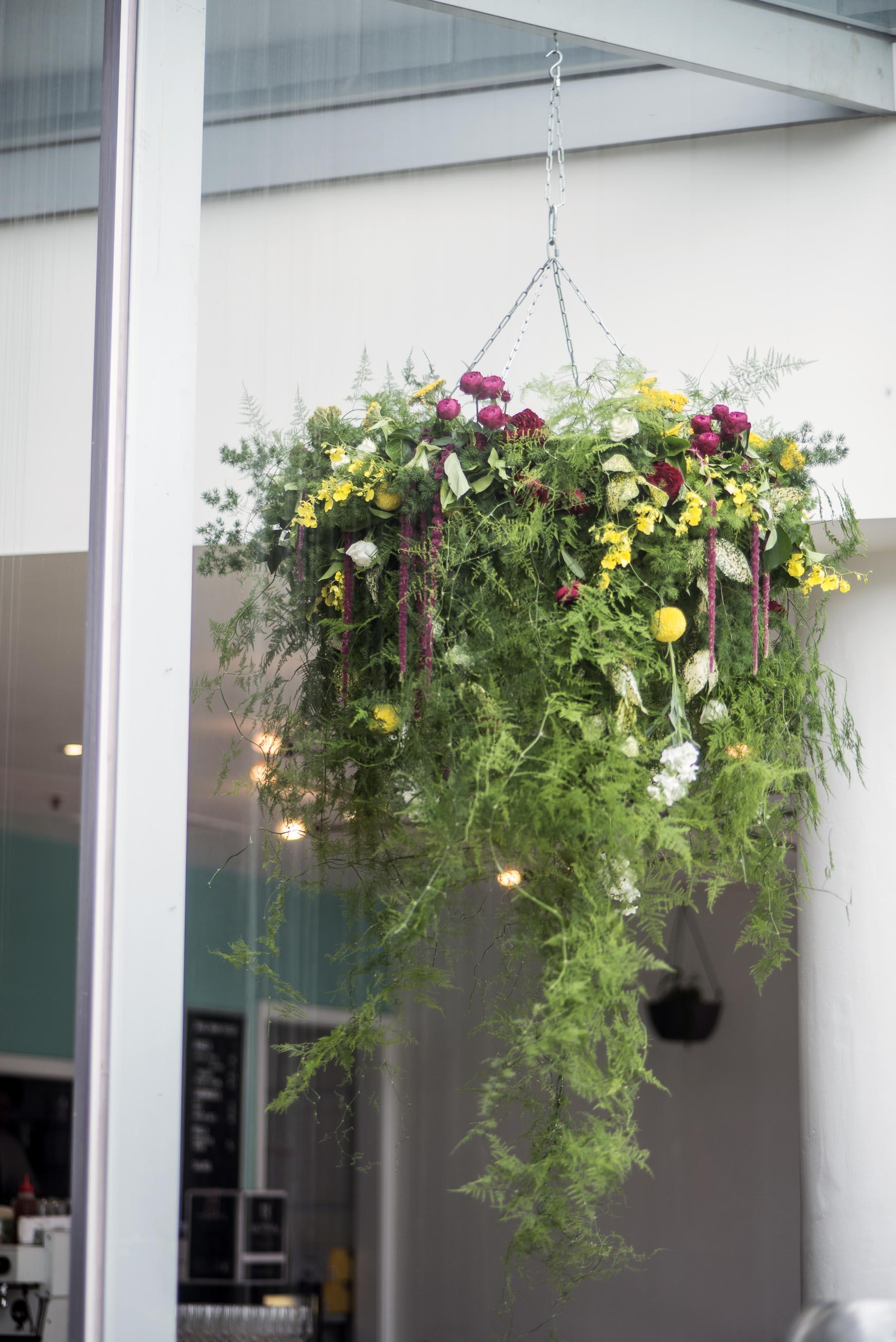 Vine covered chandelier
